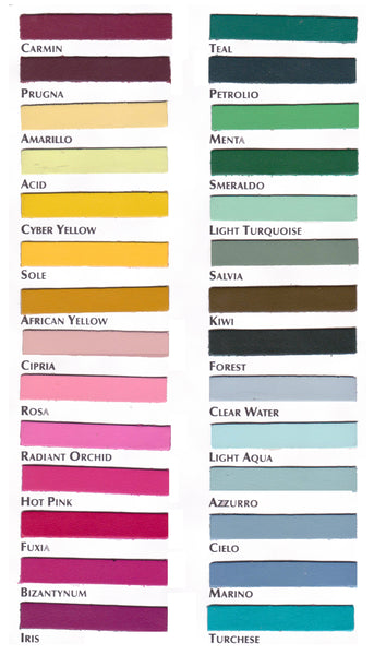 Buffed Leather Color Chart 02