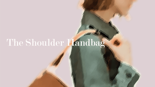 Sketch of Woman With Shoulder Handbag