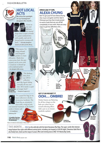 72 Smalldive Ennis Cross Body Duffel Featured on October 2014 Issue of The Singapore Women's Weekly