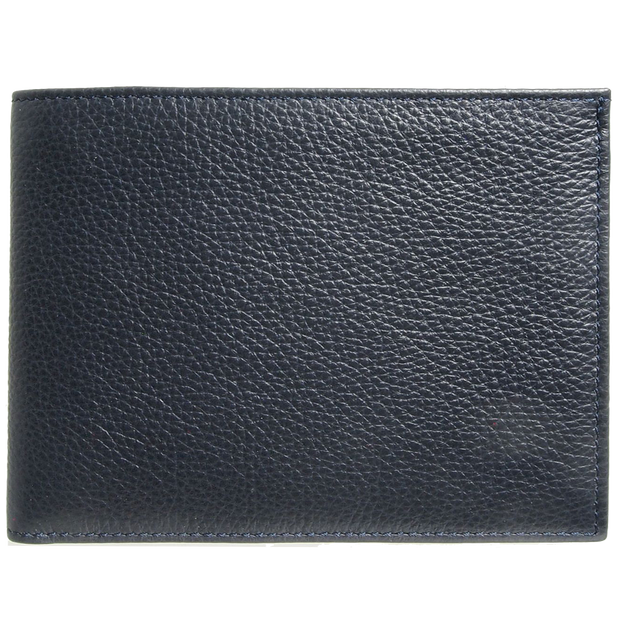 10 CC Grained Calf Leather Billfold Blue-Mens Wallets-72 Smalldive