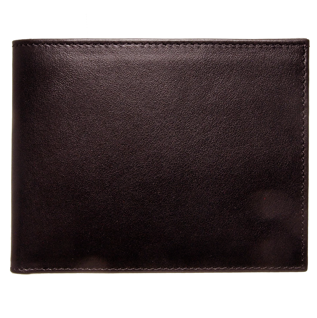 12 Credit Card Buffed Leather Billfold Brown-Mens Wallets-72 Smalldive