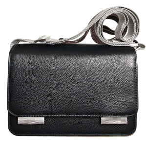 Pebbled Leather Crossbody Bag Black-Bags-72 Smalldive