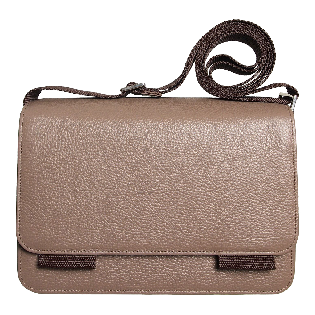 Pebbled Leather Crossbody Bag Beaver-Bags-72 Smalldive