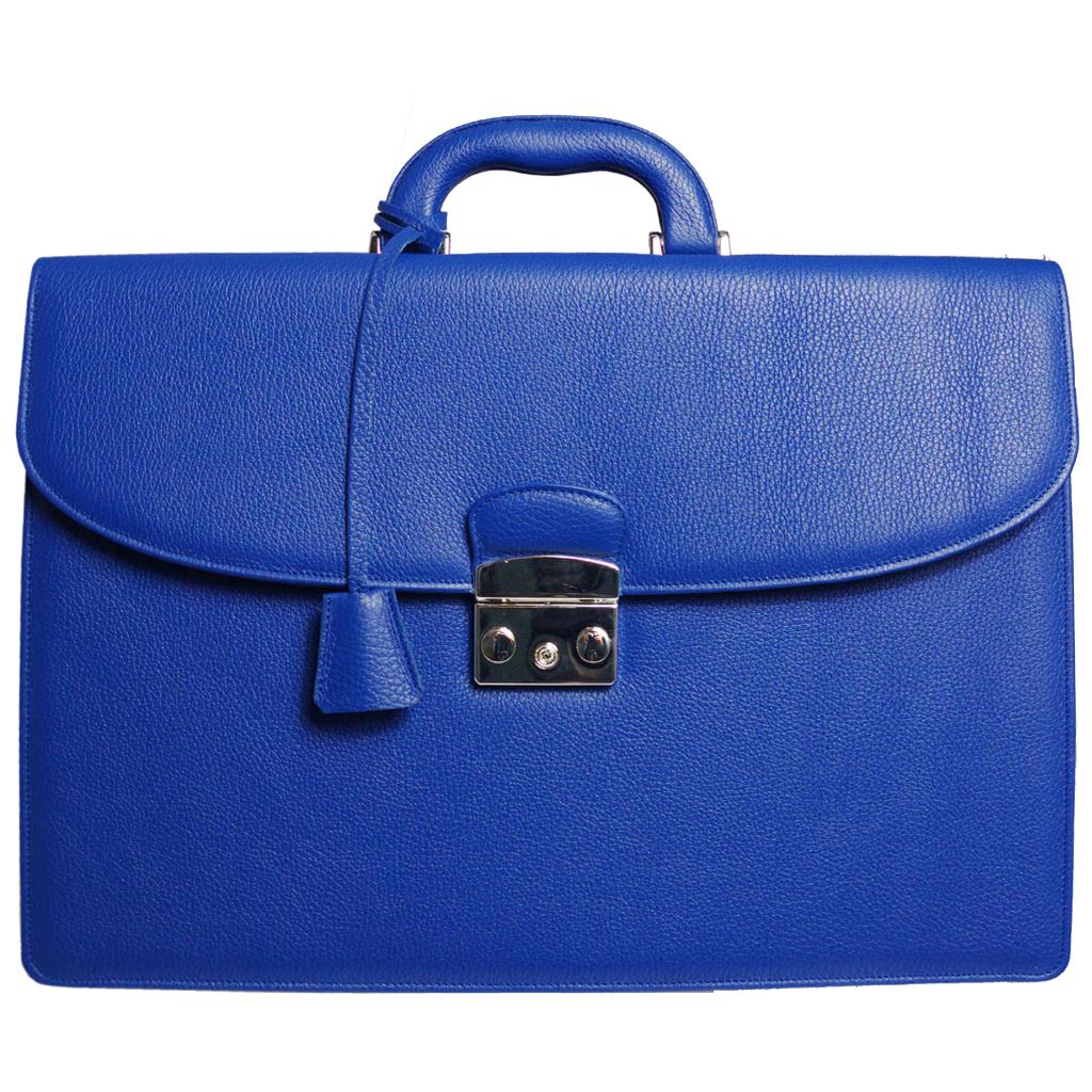 Grained Leather Attaché