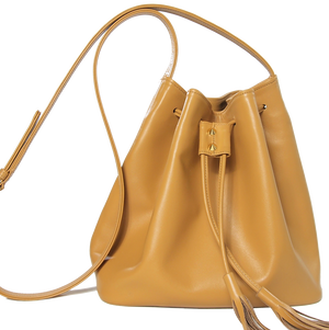 Buffed Leather Bucket Tote-Custom Order-72 Smalldive