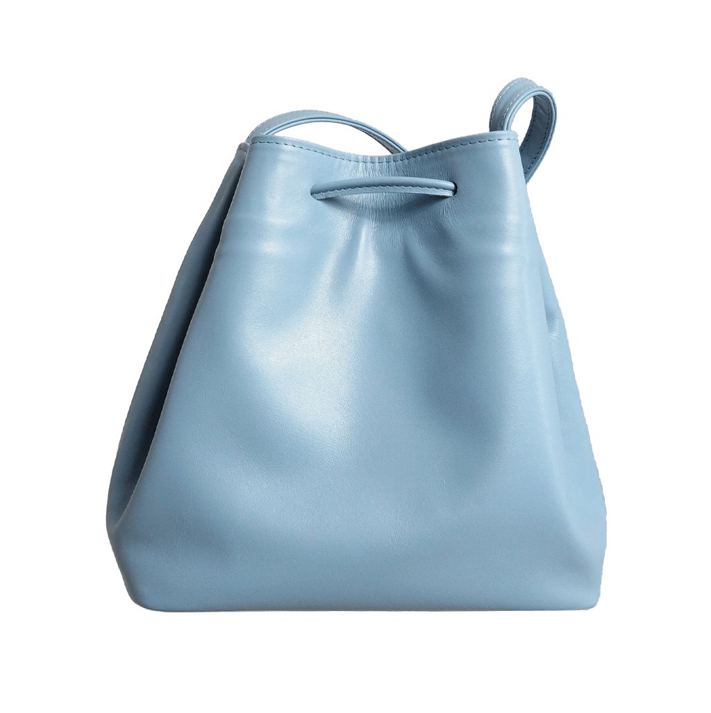 Buffed Calf Leather Bucket Tote Sky-Handbag-72 Smalldive