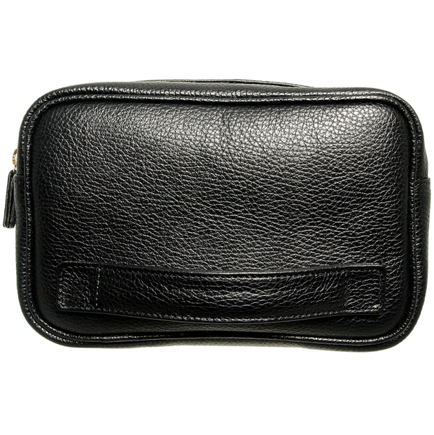 Grained Leather Dopp Kit Black-Bags-72 Smalldive