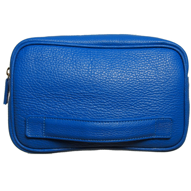 Grained Leather Dopp Kit Blue-Bags-72 Smalldive