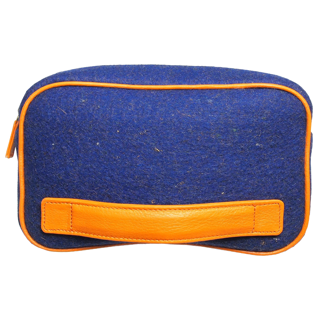 Wool Felt Dopp Kit Blue-Bags-72 Smalldive