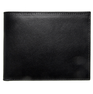 10 Credit Card Buffed Leather Billfold Black-Mens Wallets-72 Smalldive