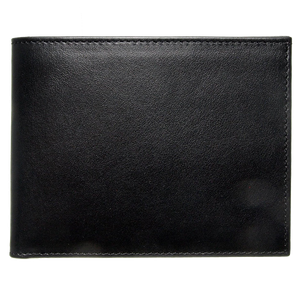72 Smalldive Mens Wallets 8 Credit Card Buffed Leather Billfold Black.