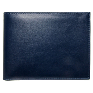 72 Smalldive Mens Wallets 10 Credit Card Buffed Leather Billfold Navy.