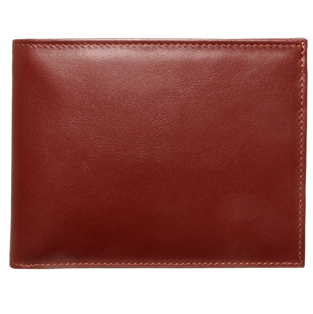 8 Credit Card Buffed Leather Billfold Brown-Mens Wallets-72 Smalldive