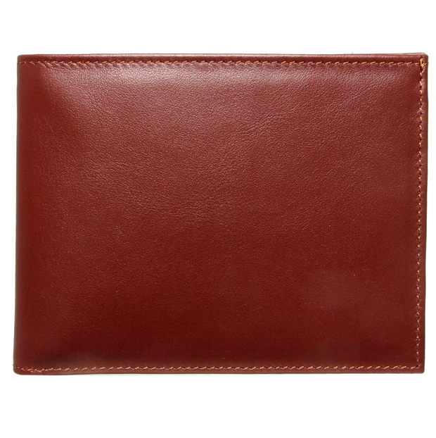 10 Credit Card Buffed Leather Billfold Brown-Mens Wallets-72 Smalldive