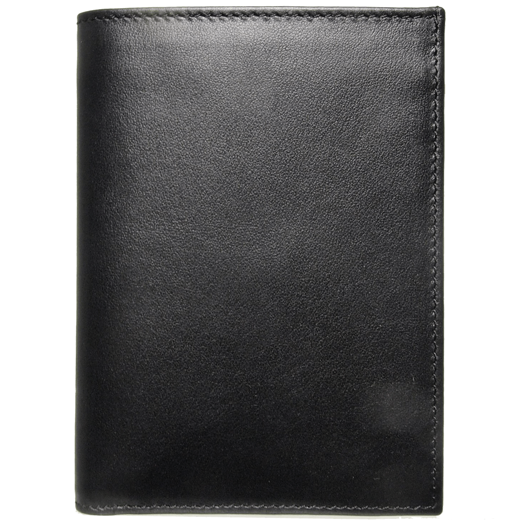 8 Credit Card Pocket Buffed Leather Billfold Black-Mens Wallets-72 Smalldive