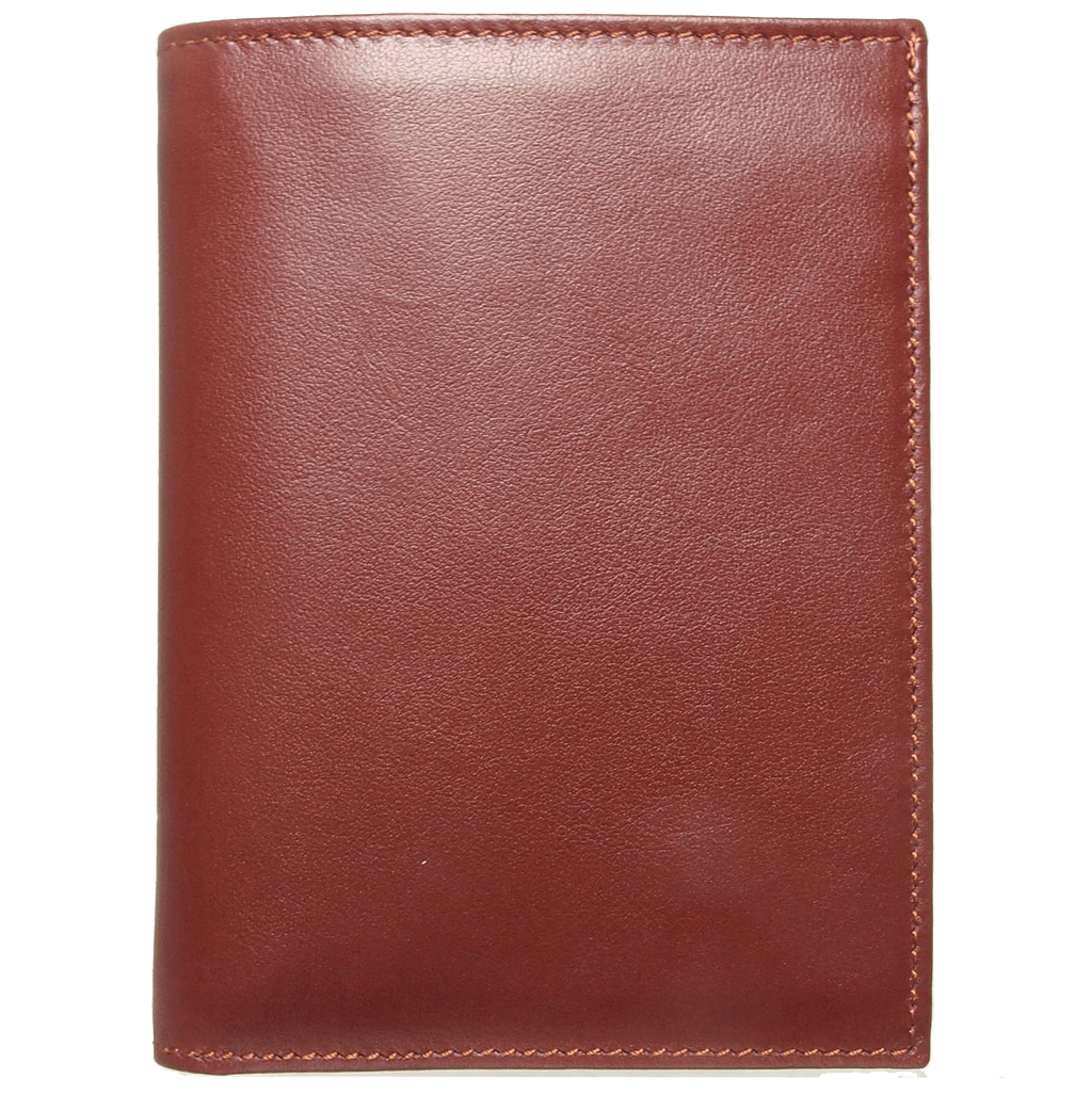 8 Credit Card Pocket Buffed Leather Billfold Brown-Mens Wallets-72 Smalldive