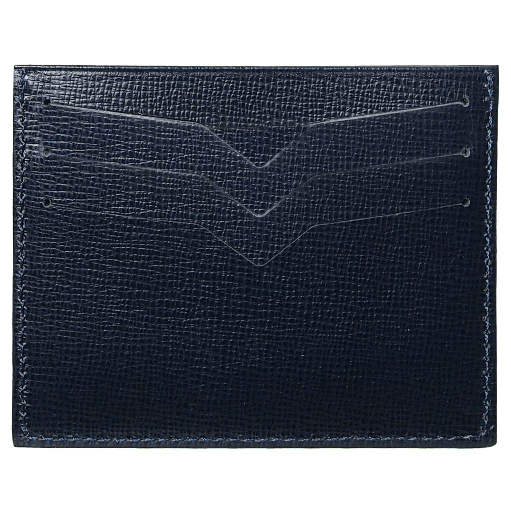 Saffiano Credit Card Wallet Blue-Unisex Wallets-72 Smalldive
