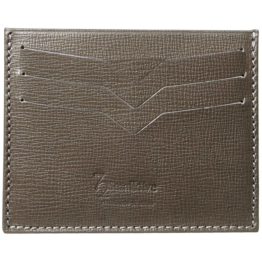 Saffiano Credit Card Wallet Olive-Unisex Wallets-72 Smalldive