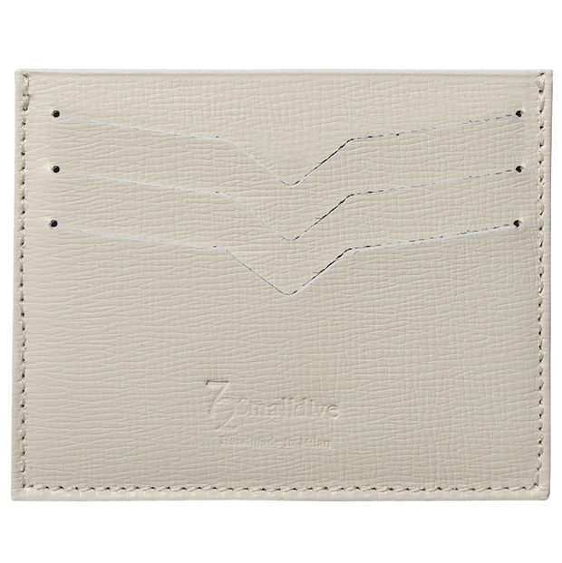 Saffiano Credit Card Wallet Ivory-Unisex Wallets-72 Smalldive