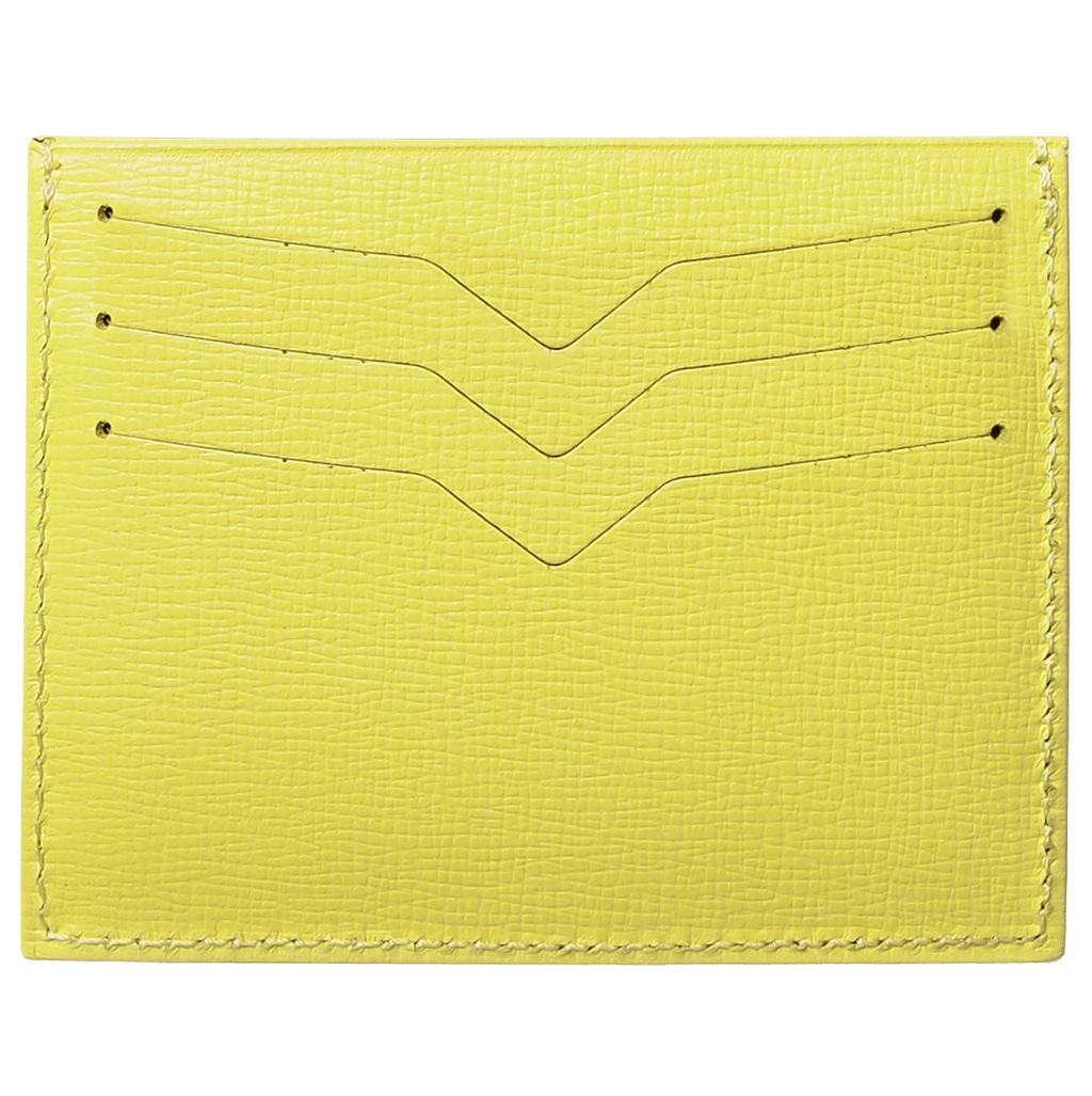 Saffiano Credit Card Wallet Lemon-Unisex Wallets-72 Smalldive