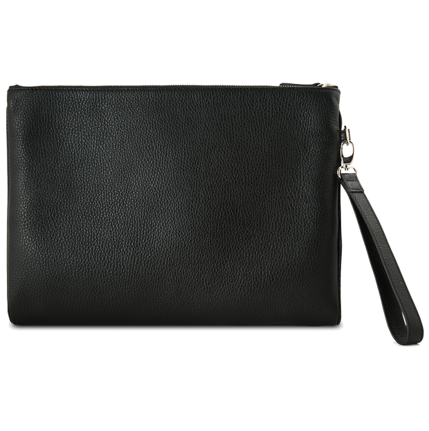 Grained Calf Leather Duo Folio Black - 72 Smalldive