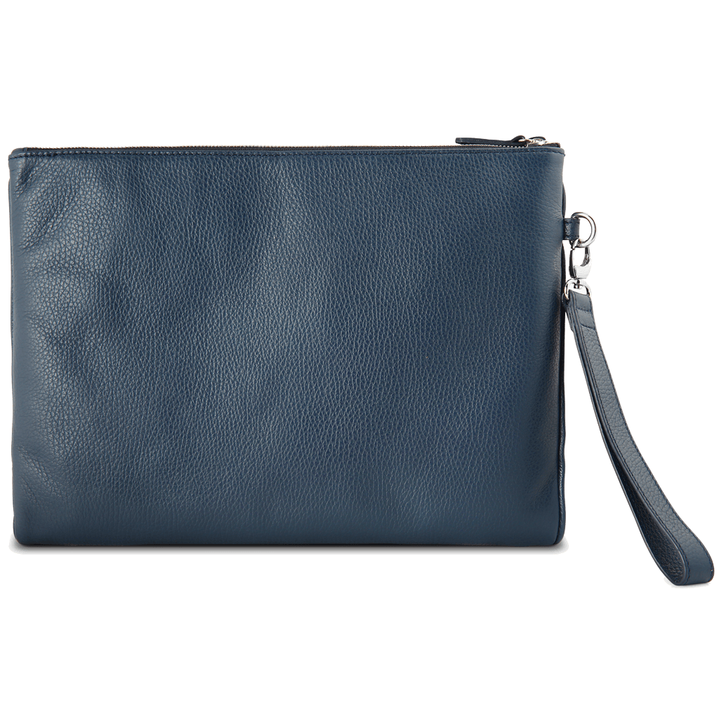 Grained Calf Leather Duo Folio Blue - 72 Smalldive