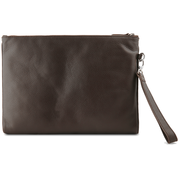 Grained Calf Leather Duo Folio Brown-Folio & Clutches-72 Smalldive