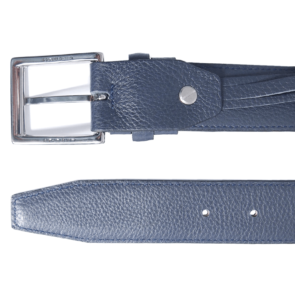 34 mm Duo-Ply Leather Belt Blue-Mens Belts-72 Smalldive