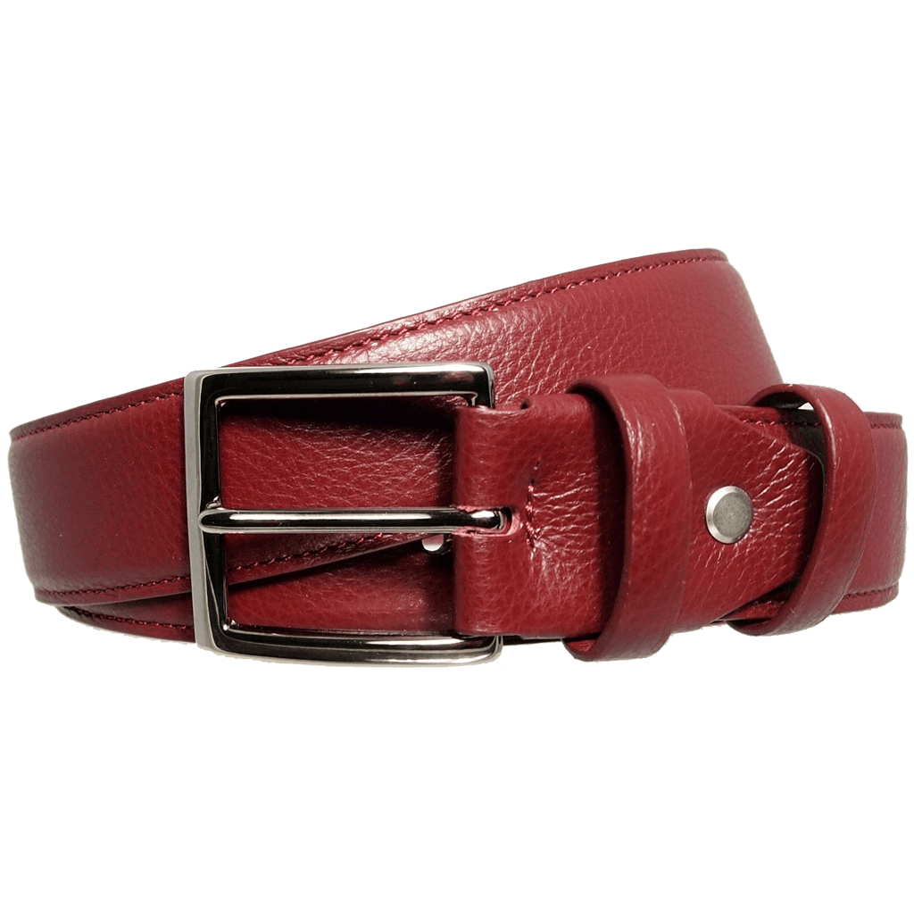 34 mm Duo Ply Leather Belt Bordeaux-Mens Belts-72 Smalldive