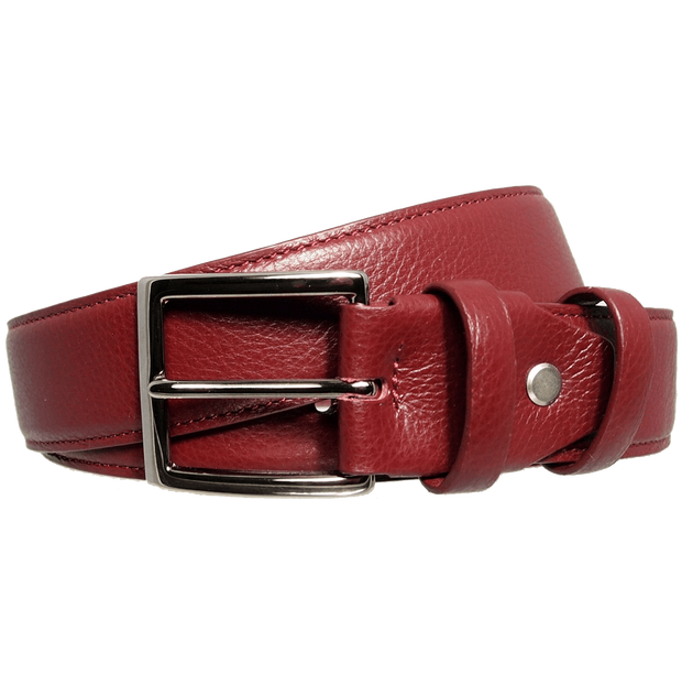 34 mm Duo Ply Calf Leather Belt Rosewood-Mens Belts-72 Smalldive