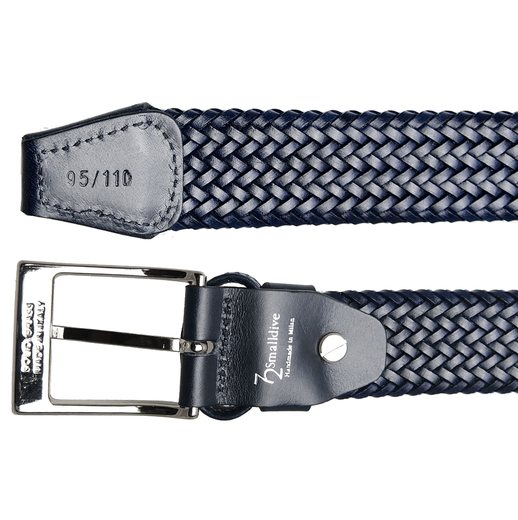 34mm Fine Tubular Weave Belt Navy-Mens Belts-72 Smalldive