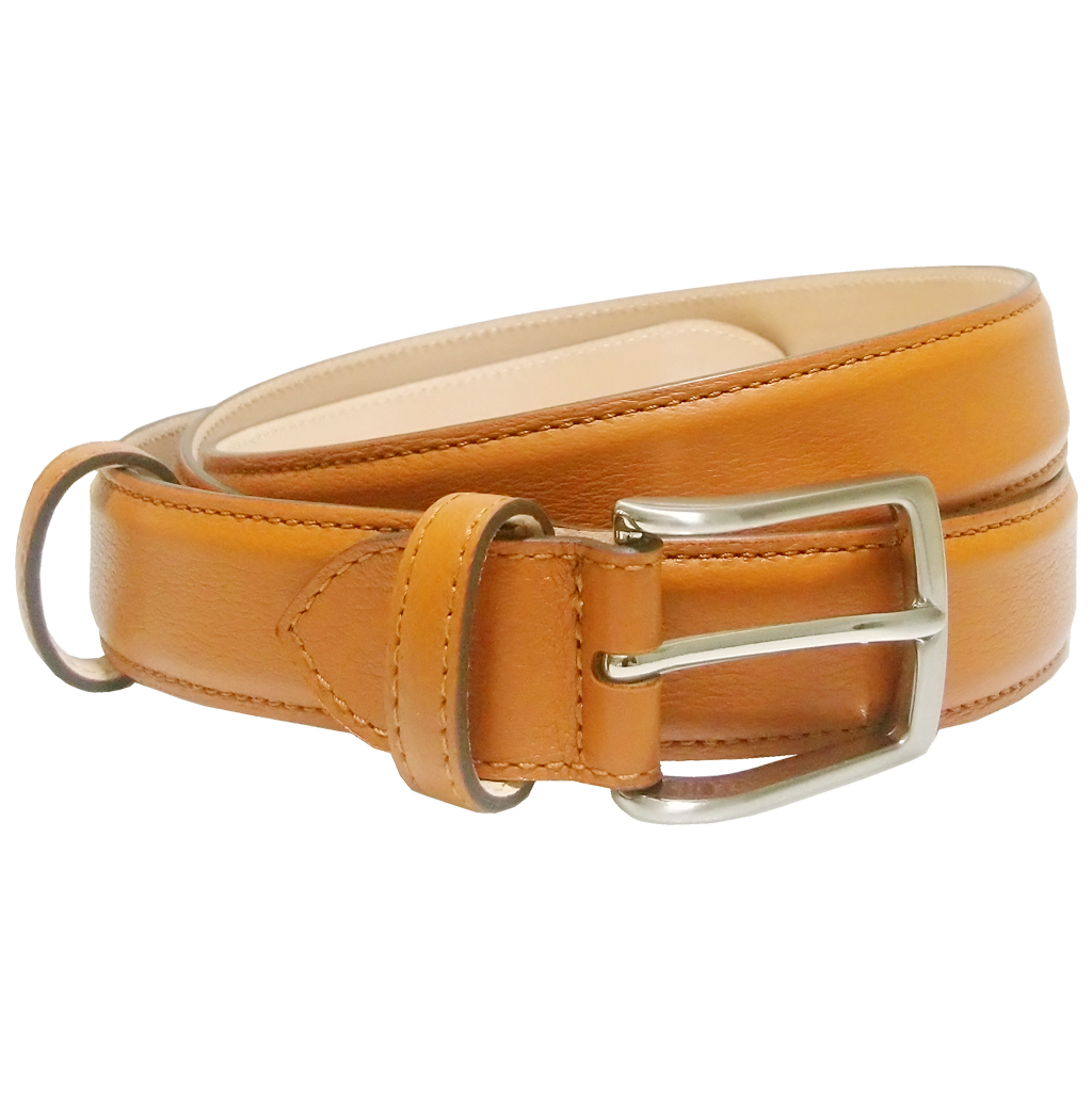 72 Smalldive Mens Belts 30 mm Sartorial Fine-Grained Leather Belt Tawny.