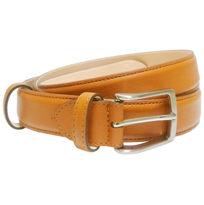 30 mm Sartorial Fine-Grained Leather Belt Tawny-Mens Belts-72 Smalldive