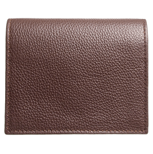 Grained Calf Leather Card Wallet Brown-Unisex Wallets-72 Smalldive