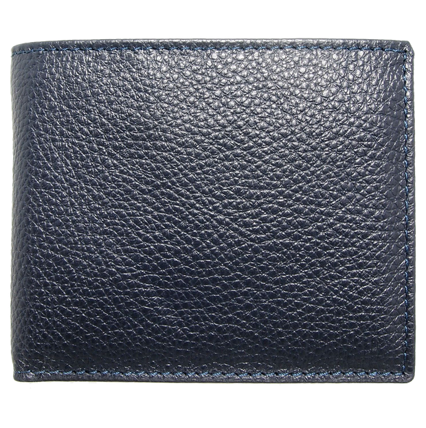 Grained Wallet with Coin Pocket Blue-Mens Wallets-72 Smalldive