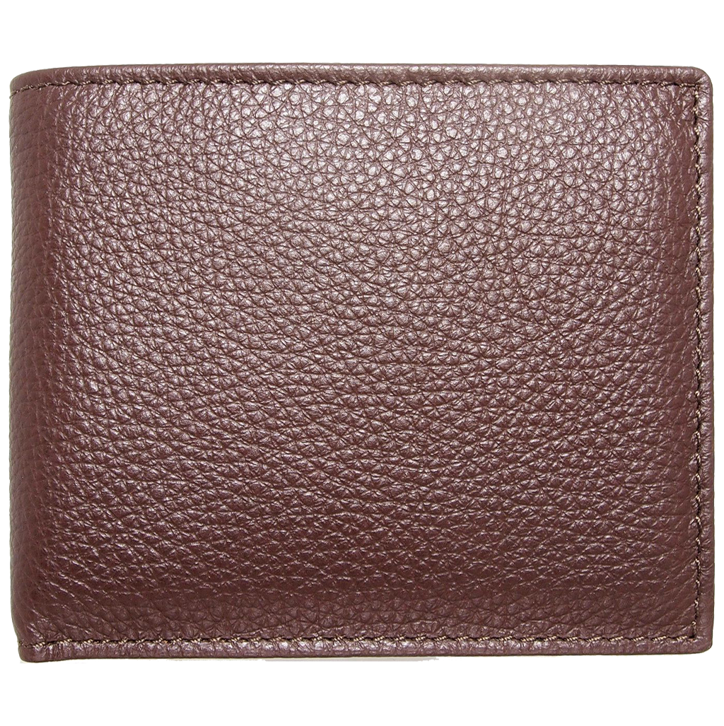 Grained Wallet with Coin Pocket Brown-Mens Wallets-72 Smalldive