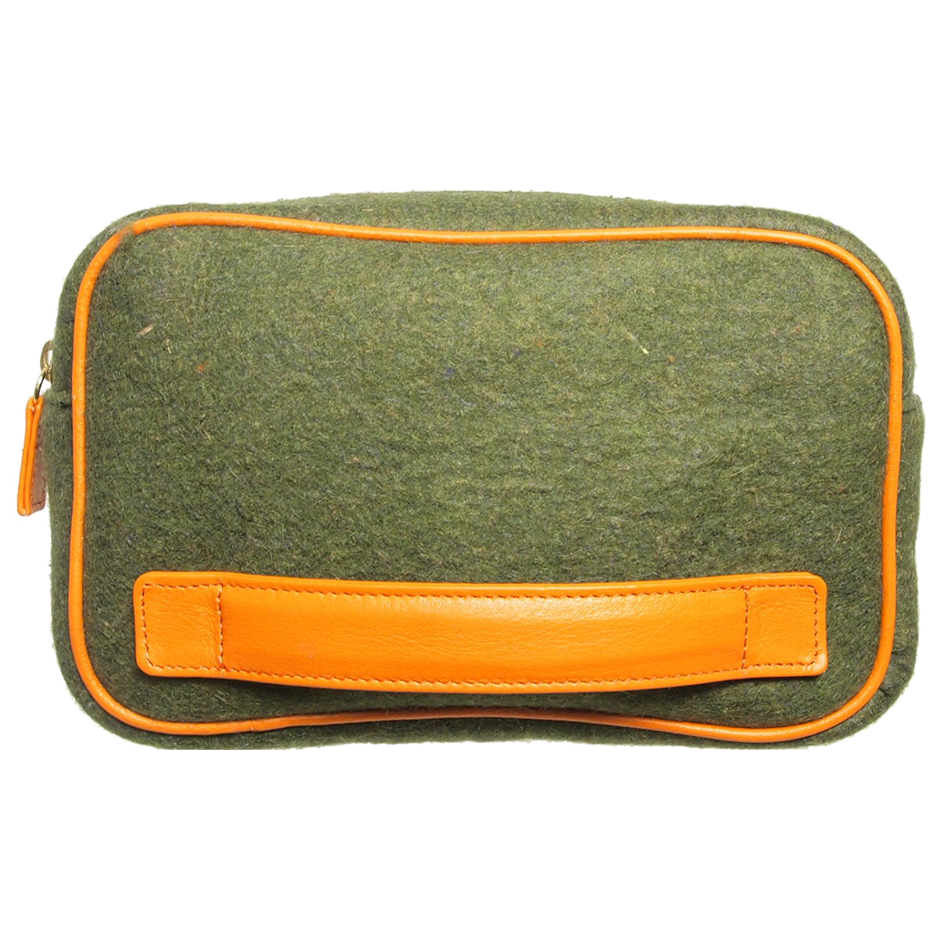 Wool Felt Dopp Kit Green-Minis & Pouches-72 Smalldive