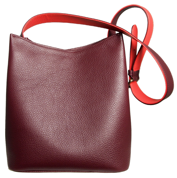 Shoulder Hobo Tote Bordeaux-Handbag-72 Smalldive