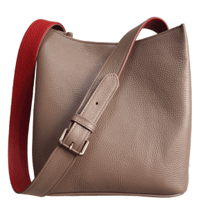 Shoulder Hobo Tote Taupe-Red-Handbag-72 Smalldive