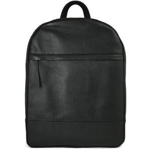 Grained Calf Leather Rucksack Black-Backpack-72 Smalldive