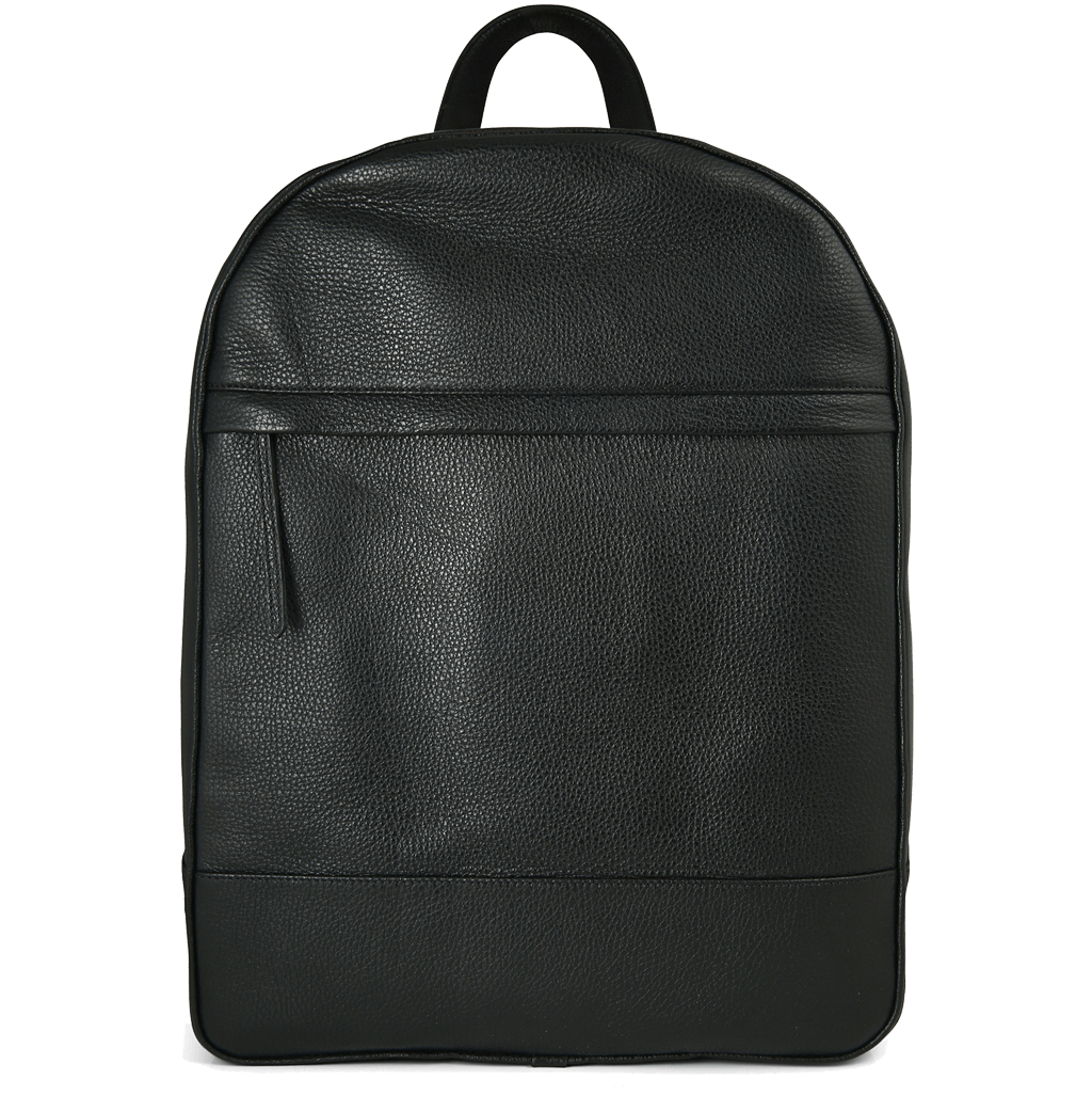 Grained Calf Leather Rucksack Black-Bags-72 Smalldive