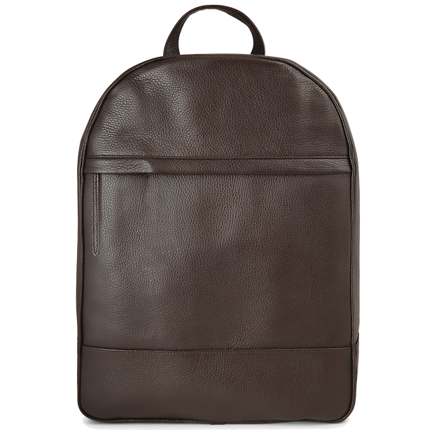 Grained Calf Leather Rucksack Brown-Bags-72 Smalldive