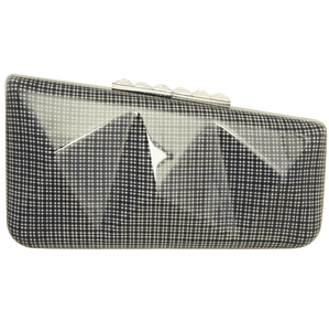 Minaudière in Blue Gingham Plaid-Clutches-72 Smalldive