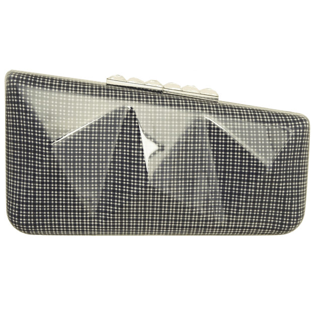 Minaudière in Laminated Blue Gingham - 72 Smalldive