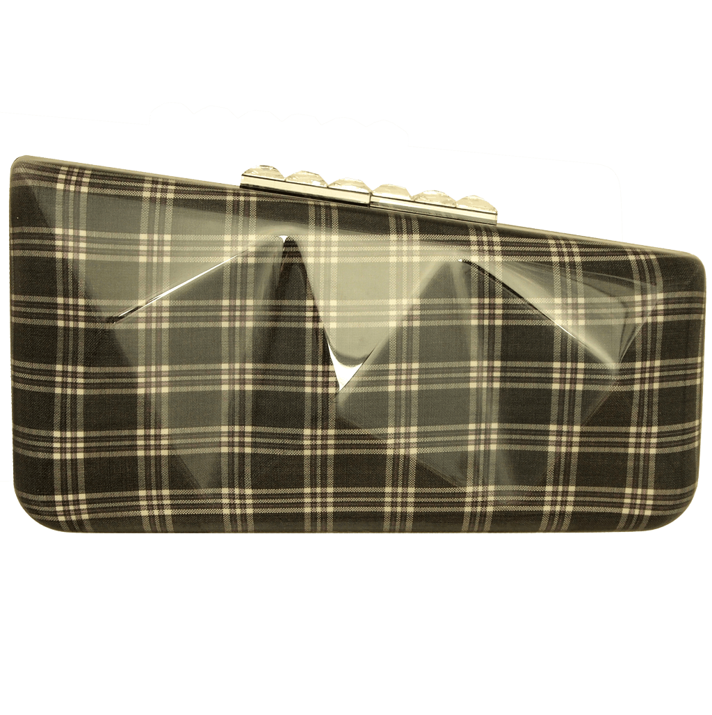 Minaudière in Prince of Wales Plaid Grey-Minaudiere-72 Smalldive