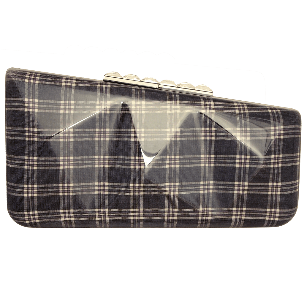 Minaudière in Navy Glen Plaid-Clutches-72 Smalldive