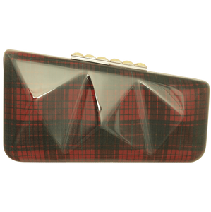 72 Smalldive Clutches Minaudière in Red Tartan.