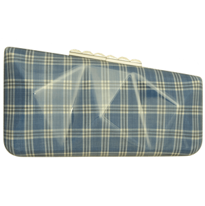Minaudière in Sky Blue Glen Plaid-Clutches-72 Smalldive