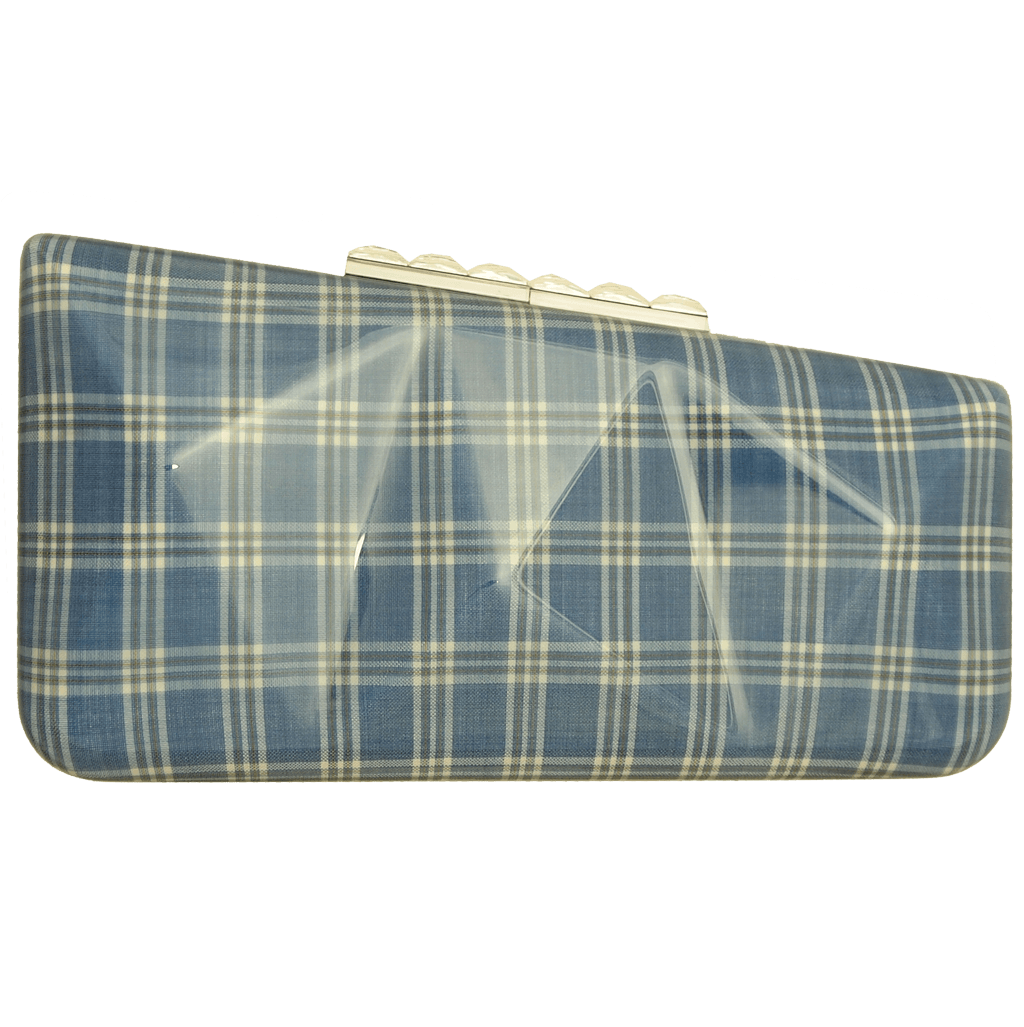 Minaudière in Prince of Wales Plaid Sky-Minaudiere-72 Smalldive