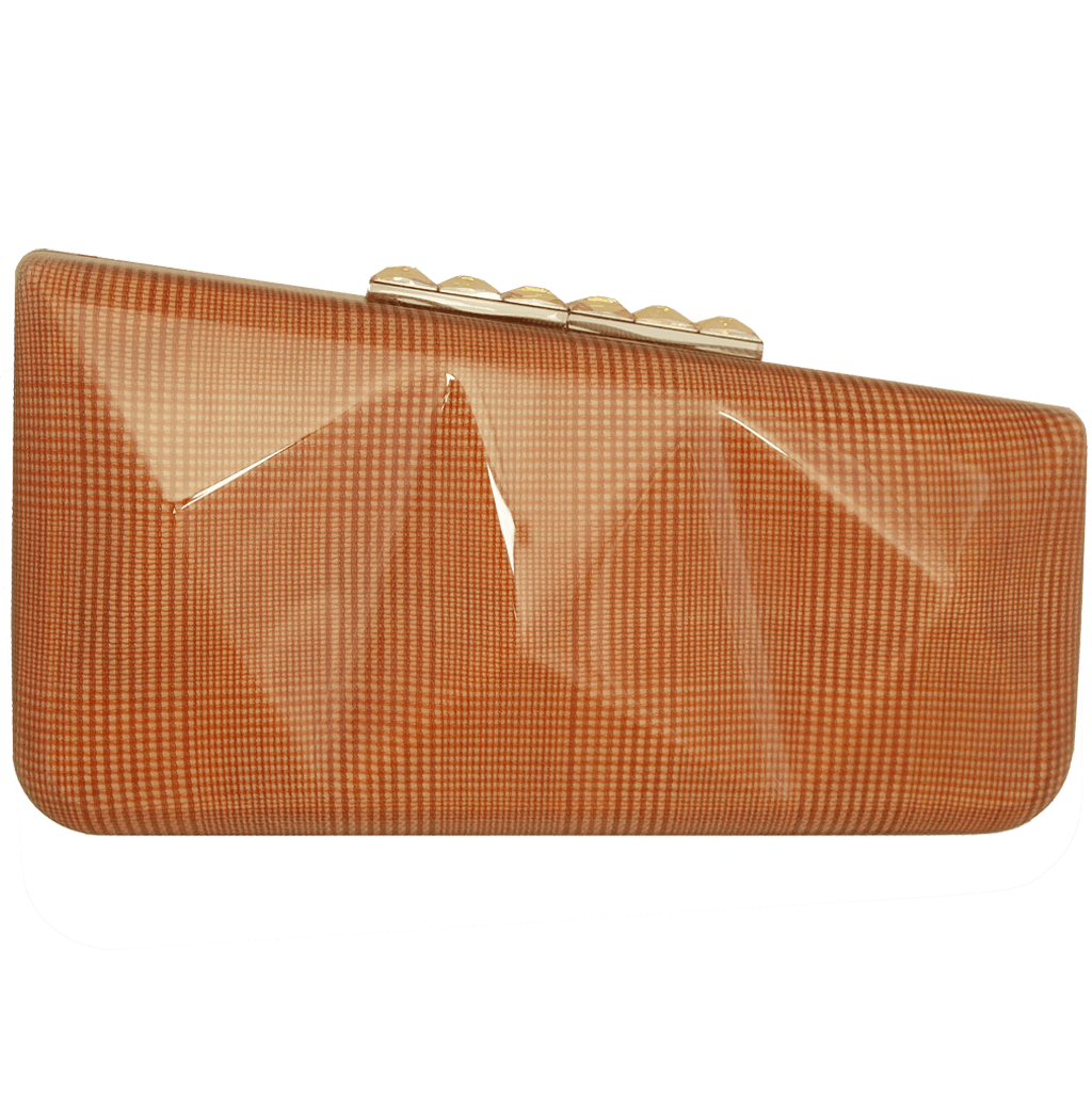 Minaudiére in Orange Glen Plaid-Clutches-72 Smalldive